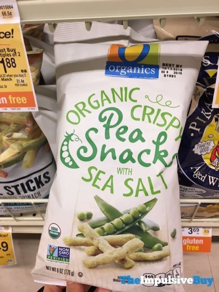 Safeway Organics Organic Crispy Pea Snacks with Sea Salt