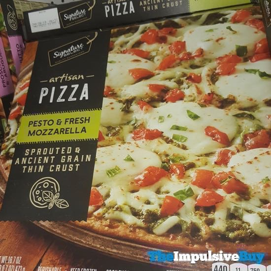 Safeway Signature Select Pesto  Fresh Mozzarella Artisan Pizza