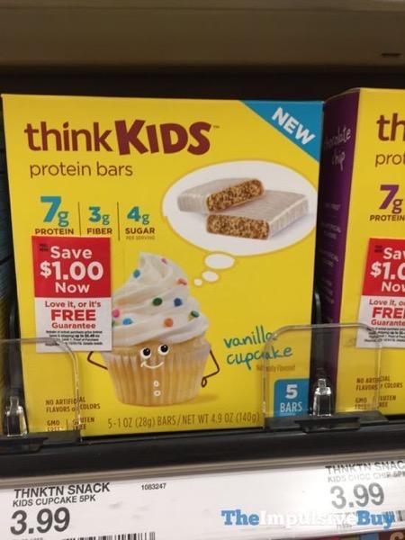 ThinkKids Vanilla Cupcake Protein Bars