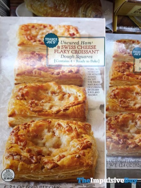 Trader Joe s Uncured Ham  Swiss Cheese Flaky Croissant Dough Squares