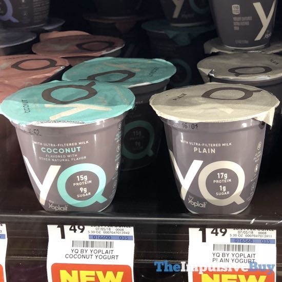 YQ by Yoplait  Coconut and Plain
