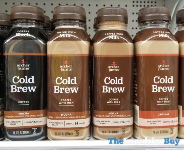 Archer Farms Cold Brew Coffee  Black Mocha With Milk Mocha and With Milk Original