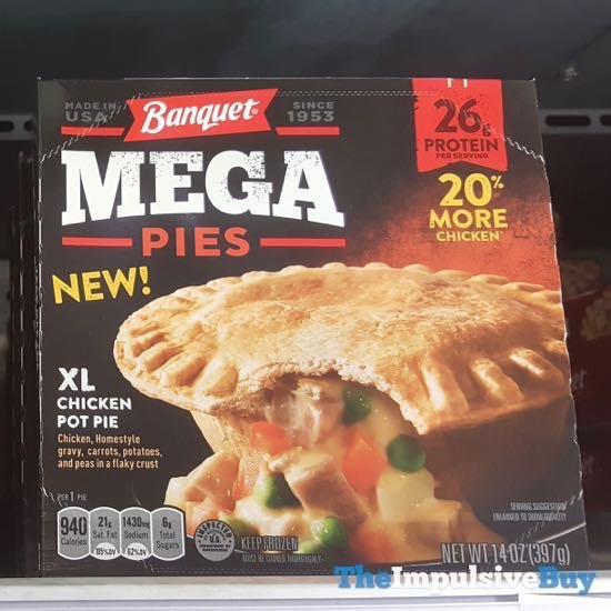 Banquet Mega Pies XL Chicken Pot Pie