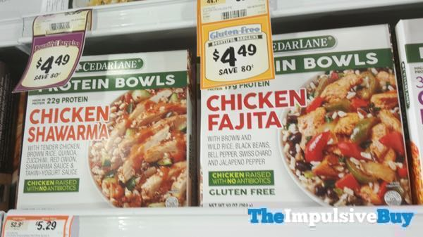 Cedar Lane Protein Bowls  Chicken Shawarma and Chicke Fajita