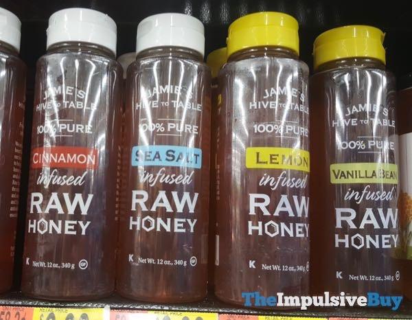 Jamie s Hive to Table Infused Raw Honey  Cinnamon Sea Salt Lemon and Vanilla Bean