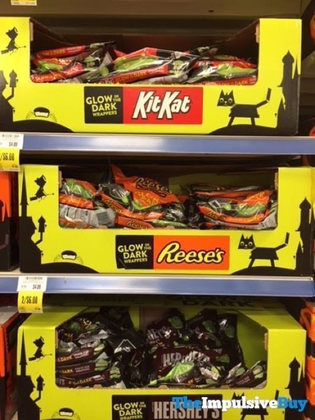 Kit Kat Reese s and Hershey s in Glow in the Dark Wrappers