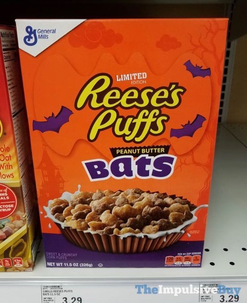 Limited Edition Reese s Puffs Peanut Butter Bats Cereal