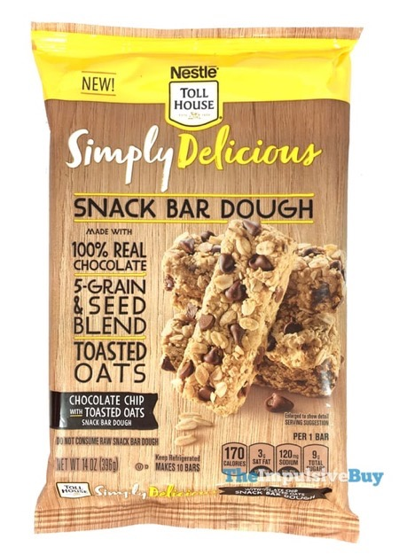 Nestle Toll House Simply Delicious Chocolate Chip with Toasted Oats Snack Bar Dough
