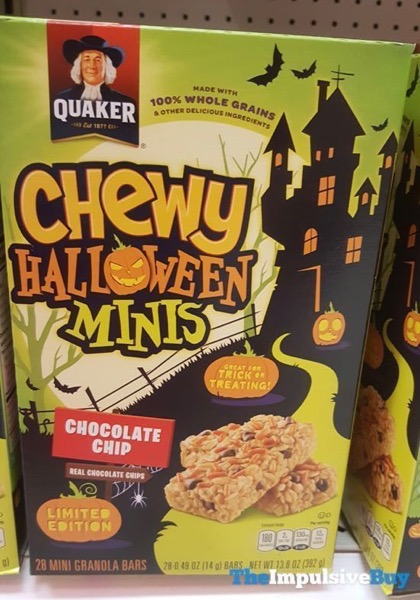 Quaker Chewy Limited Edition Chocolate Chip Halloween Minis Granola Bars