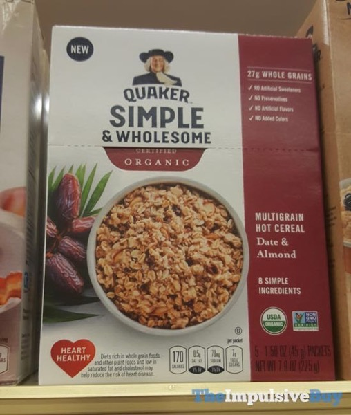 Quaker Simple  Wholesome Organic Multi Grain Hot Cereal Date  Almond