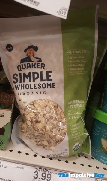 Quaker Simple  Wholesome Organic Multigrain Hot Cereal with Buckwheat  Flaxseed