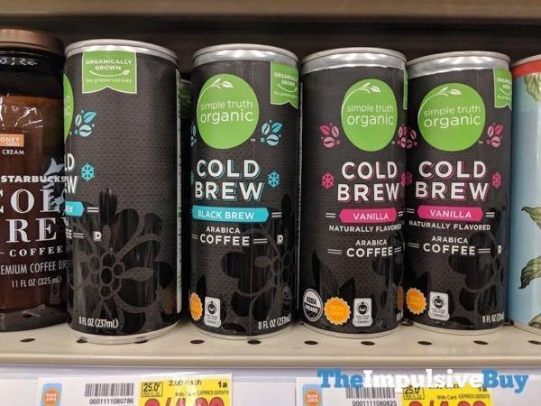 Simple Truth Organic Cold Brew Coffee  Black Brew and Vanilla