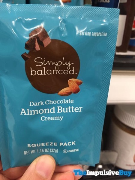 Simply Balanced Dark Chocolate Creamy Almond Butter Squeeze Pack