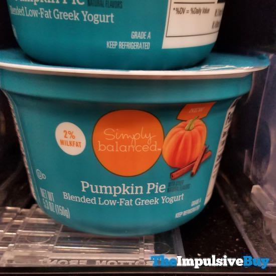 Simply Balanced Pumpkin Pie Blended Low Fat Greek Yogurt