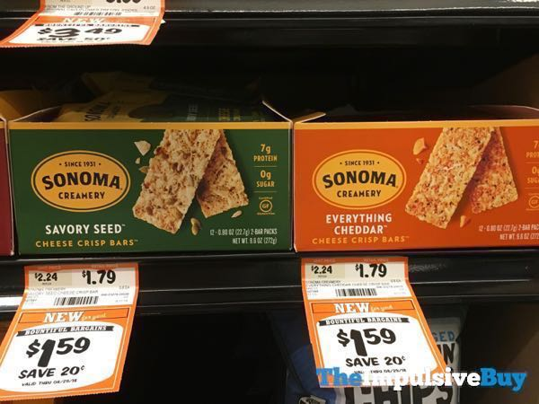 Sonoma Creamery Cheese Crisp Bars  Savory Seed and Everything Cheddar