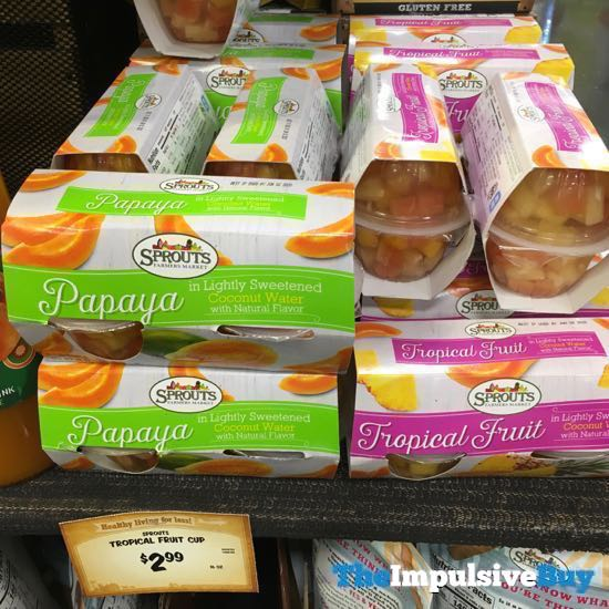 Sprouts Papaya and Tropical Fruit Fruit Cups