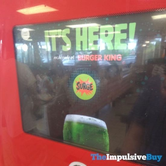 Surge Available At Burger King Coke Freestyle Machines