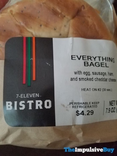 7 Eleven Bistro Everything Bagel Sandwich