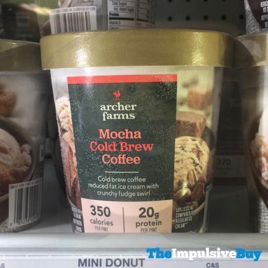 Archer Farms Mocha Cold Brew Coffee Reduced Fat Ice Cream