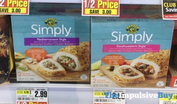 Barber Foods Simply Seasoned Stuffed Chicken Breasts  Mediterranean Style and Southwestern Style