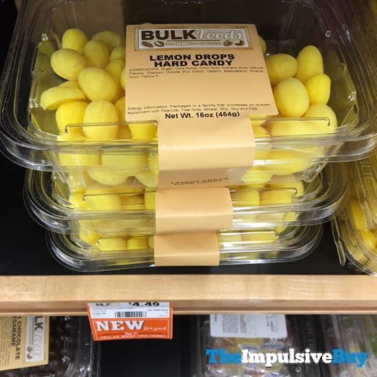 Bulk Foods Lemon Drops Hard Candy