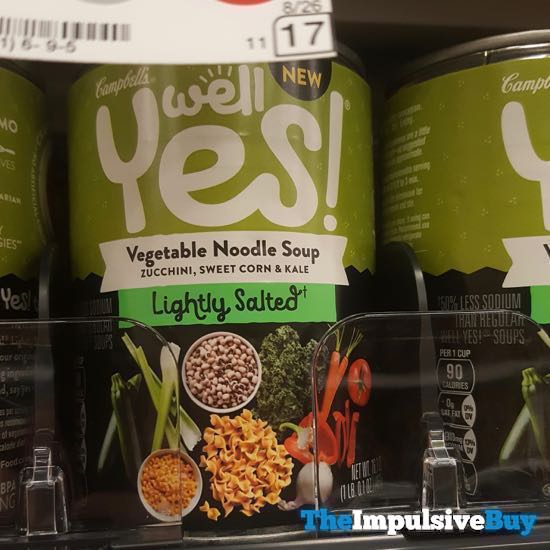 Campbell s Well Yes Lightly Salted Vegetable Noodle Soup