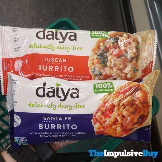 Daiya Tuscan Burrito and Santa Fe Burrito