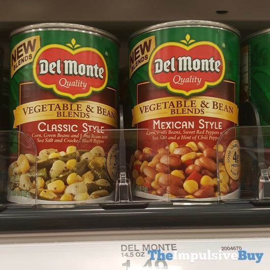 Del Monte Vegetable  Bean Blends Classic Style and Mexican Style