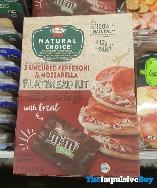 Hormel Natural Choice Uncured Pepperoni  Mozzarella Flatbread Kit