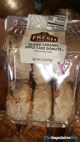Kroger Bakery Fresh Goodness Glazed Caramel Apple Cake Donuts