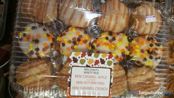 Kroger Fall Mini Donuts Variety Pack  Caramel Apple Autumn Ring and Caramel Crunch