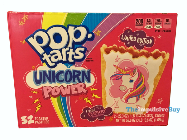 Limited Edition Unicorn Power Frosted Cherry Pop Tarts