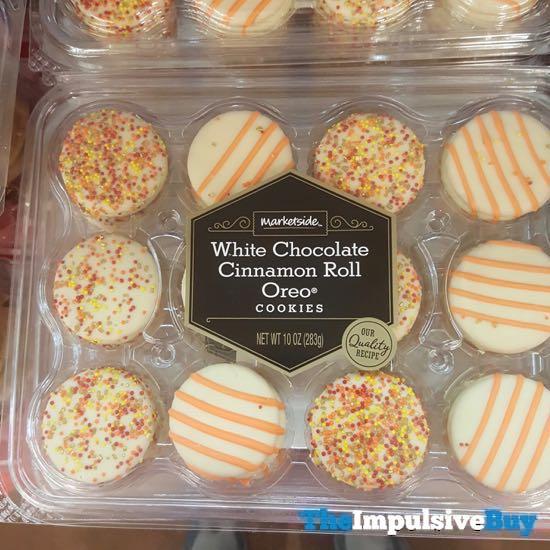 Marketside White Chocolate Cinnamon Roll Oreo Cookies