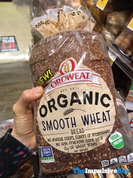 Oroweat Organic Smooth Wheat Bread