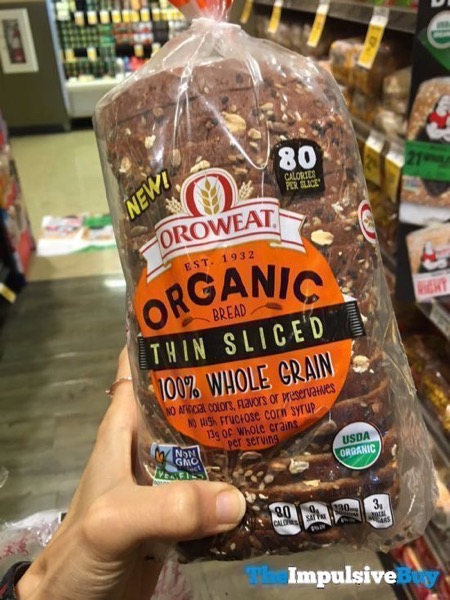 Oroweat Organic Thin Sliced 100 Whole Grain Bread