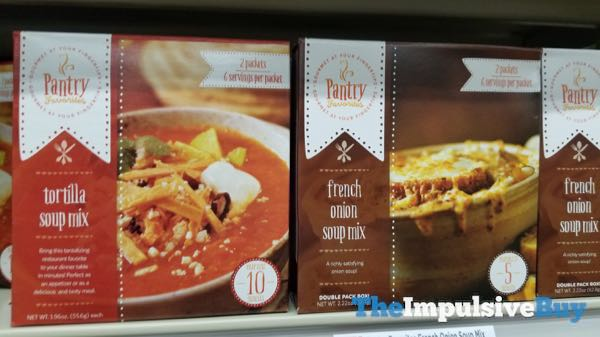 Pantry Favorites Tortilla Soup and French Onion Soup Mixes