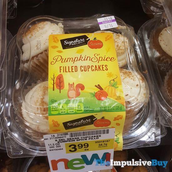 Safeway Signature Select Pumpkin Spice Filled Cupcakes