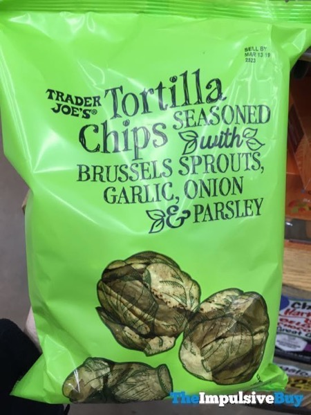 Trader Joe s Tortilla Chips Seasoned with Brussels Sprouts Garlic Onion and Parsley