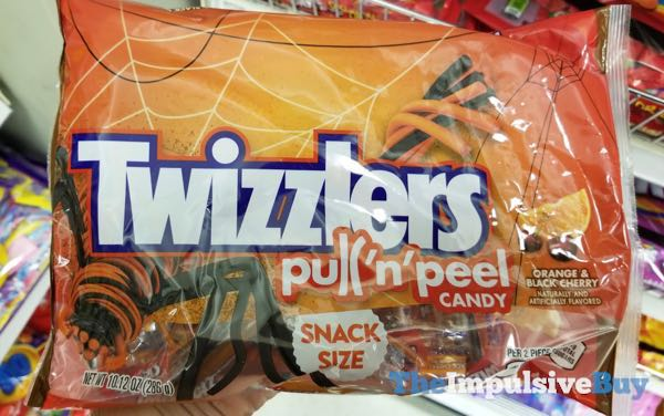 Twizzlers Halloween Orange  Black Cherry Pull  n Peel Candy