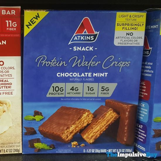 Atkins Chocolate Mint Protein Wafer Crisps