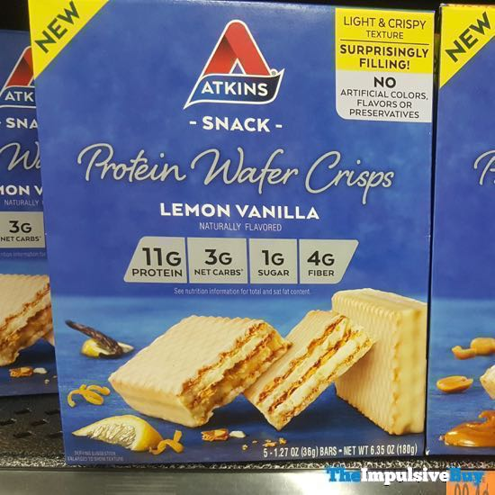 Atkins Lemon Vanilla Protein Wafer Crisps
