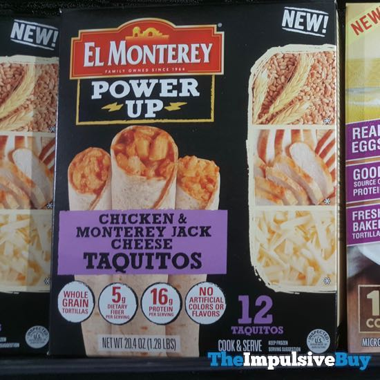 El Monterey Power Up Chicken  Monterey Jack Cheese Taquitos