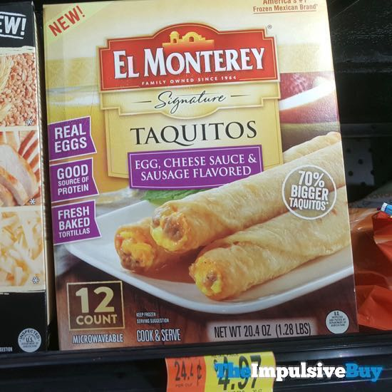 El Monterey Signature Taquitos Egg Cheese Sauce  Sausage Flavored