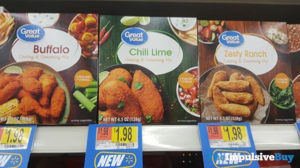 Great Value Coating  Seasoning Mix  Buffalo Chili Lime and Zesty Ranch