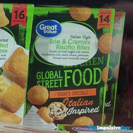 Great Value Global Street Food Brie  Cremini Risotto Bites
