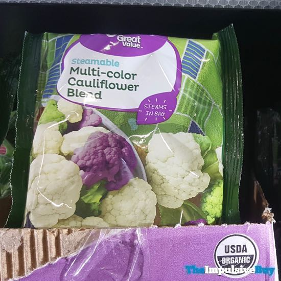 Great Value Organic Steamable Multi Color Cauliflower Blend