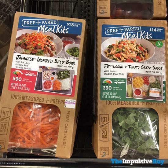 Kroger Prep + Pared Meals Kits  Japanese Inspired Beef Bowl and Fettuccini + Tomato Cream Sauce