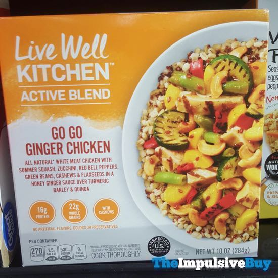 Live Well Kitchen Active Blend Go Go Ginger Chicken