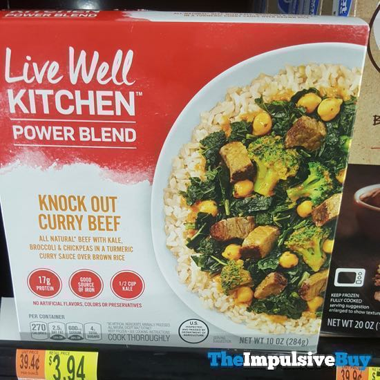 Live Well Kitchen Power Blend Knock Out Curry Beef