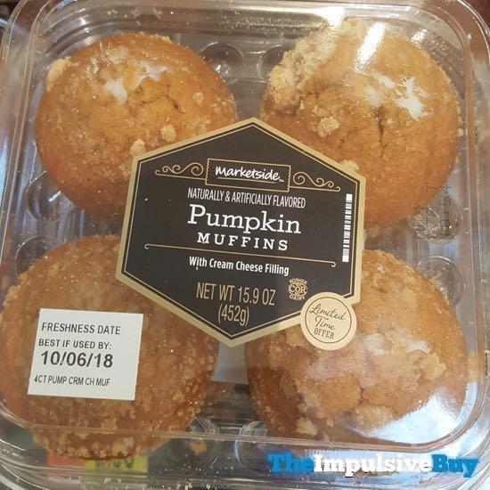 Marketside Pumpkin Muffins with Cream Cheese Filling